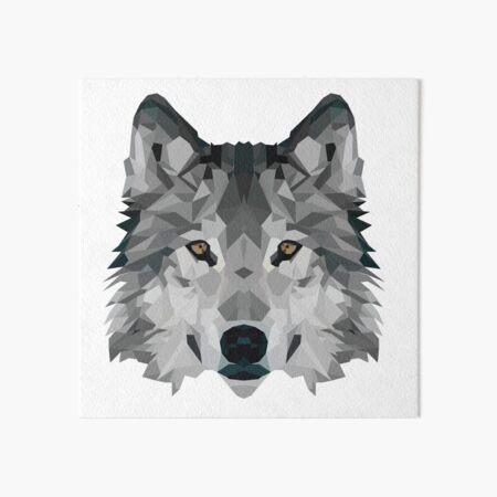 Crystalline Wolf Art Board Print