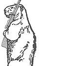 Watchful Beaver (grey) by bradyqk
