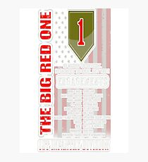 1st Infantry division - The big red one Photographic Print
