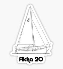 flicka 20 Sticker