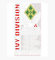 4th Infantry division - Ivy division for US Photographic Print