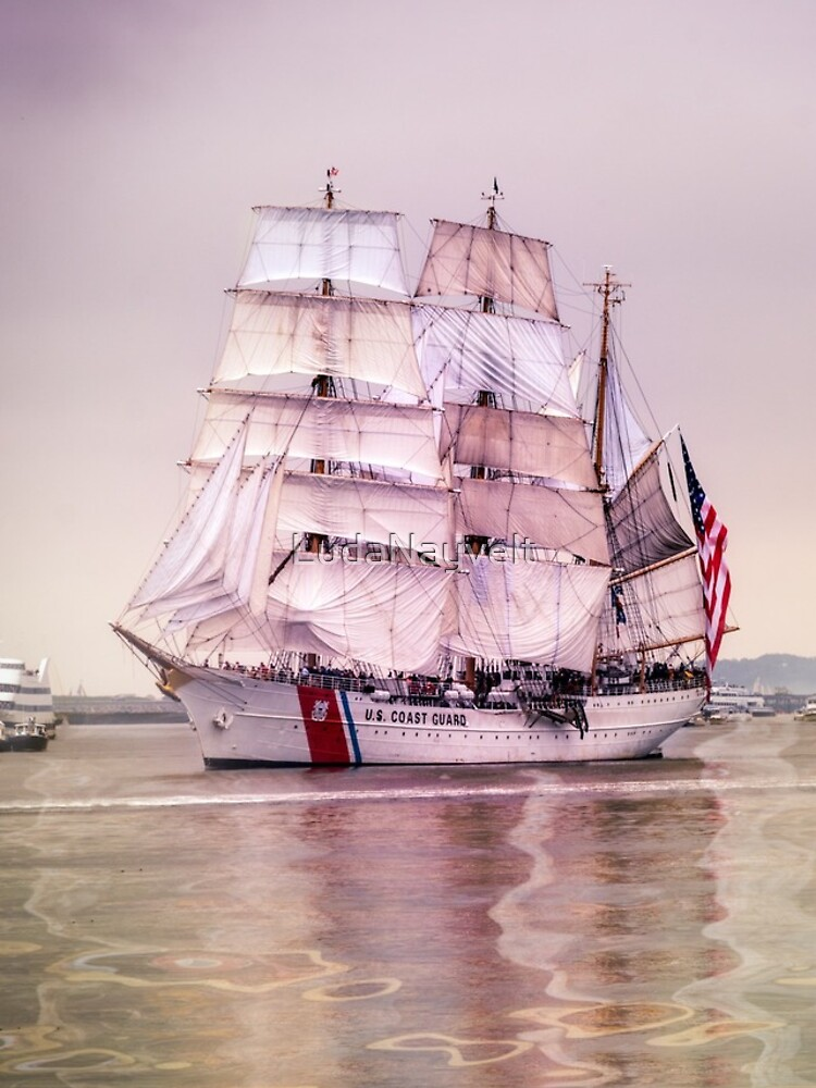 Tall Ships in Boston -USCG by LudaNayvelt