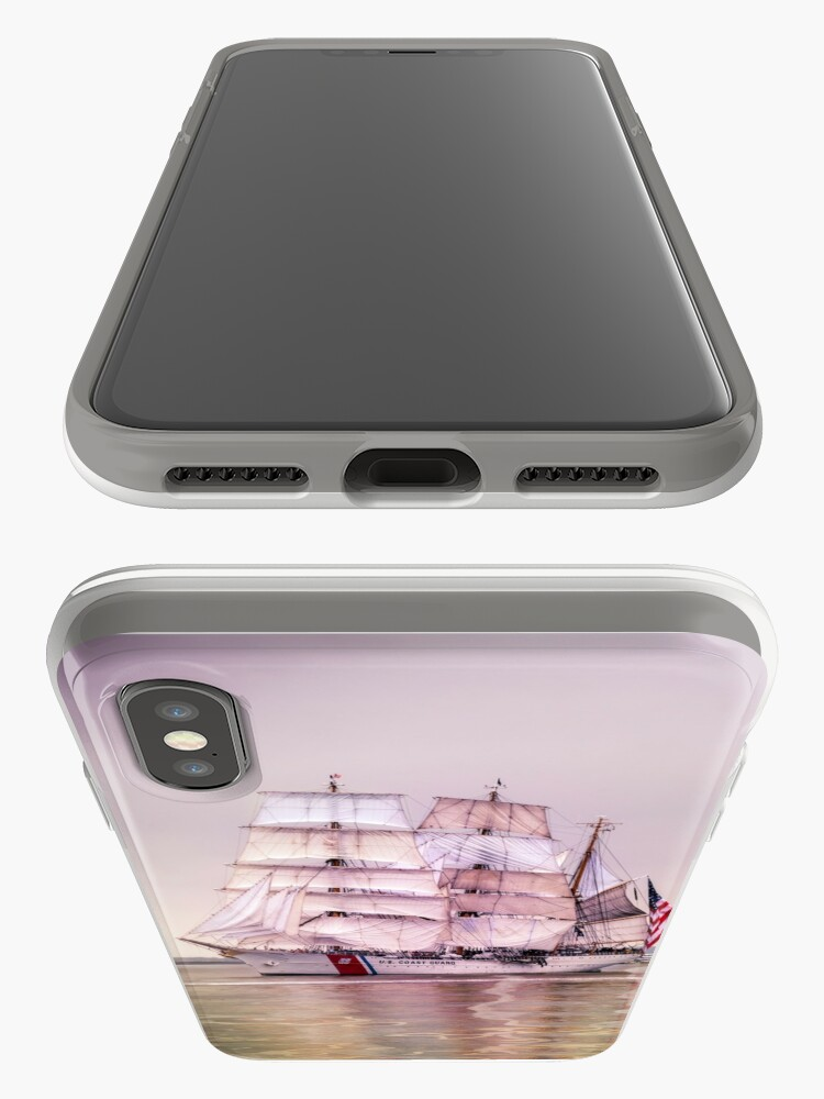 Alternate view of Tall Ships in Boston -USCG iPhone Case & Cover