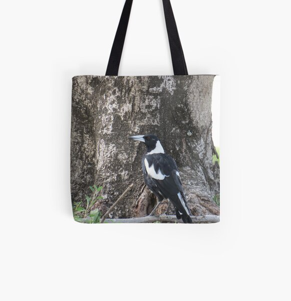 Australian Magpie All Over Print Tote Bag
