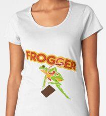 Frogger Cabinet Art Women's Premium T-Shirt