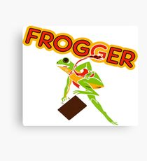 Frogger Cabinet Art Canvas Print