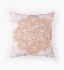 Cojín Mandala de oro rosa - mármol rosa
