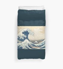 the great wave by hokusai Duvet Cover