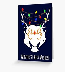 Winter's Crest Wishes Keyleth Greeting Card