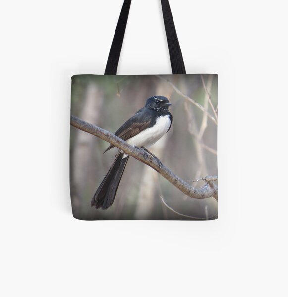 Willie Wagtail All Over Print Tote Bag