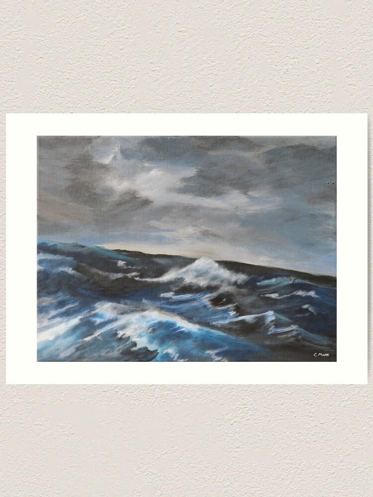 Alternate view of Ocean Art Print