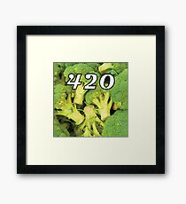 420 Broccoli Weed Funny Blaze It Legalize It Design Framed Print