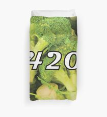420 Broccoli Weed Funny Blaze It Legalize It Design Duvet Cover