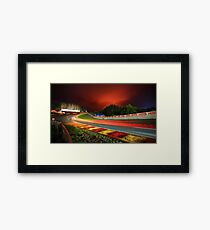 Spa Francorchamps at night Framed Print