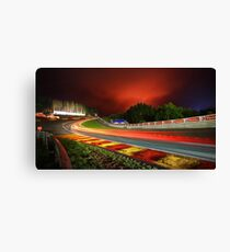 Spa Francorchamps at night Canvas Print