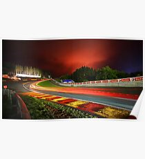 Spa Francorchamps at night Poster
