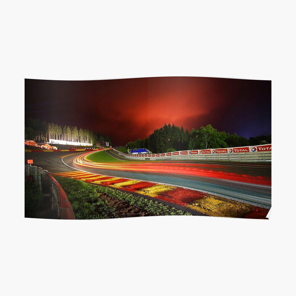 Spa Francorchamps in der Nacht Poster