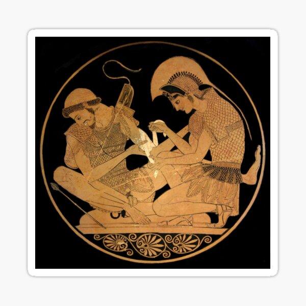 Achilles Bandages the Arm of Patroclus Sticker