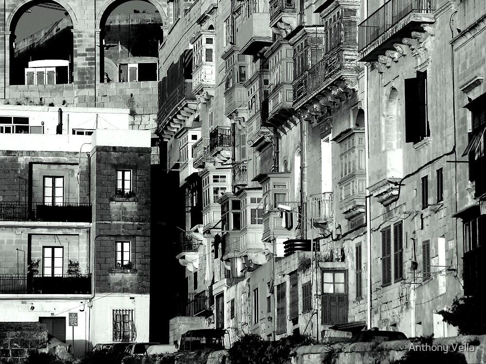 St Anthony Street, Valletta by Anthony Vella