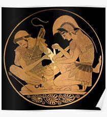 Achilles Bandages the Arm of Patroclus Poster