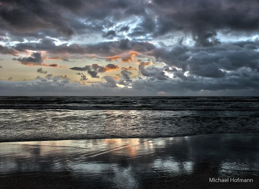 sunset at the beach von Michael Hofmann