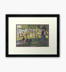 Georges Seurat's A Sunday Afternoon on the Island of La Grande Jatte Framed Print