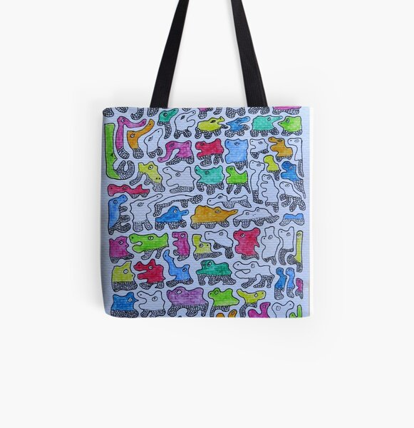 Amoeba.  All Over Print Tote Bag