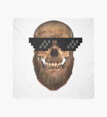 Geek Bearded Skull mens-tees Scarf