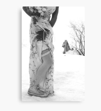 Converse Wedding Canvas Print