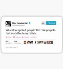 peepole kim kardashian tweet Sticker
