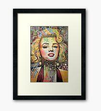 Marilyn Monroe / Abstract modern Hollywood movie star art Framed Print