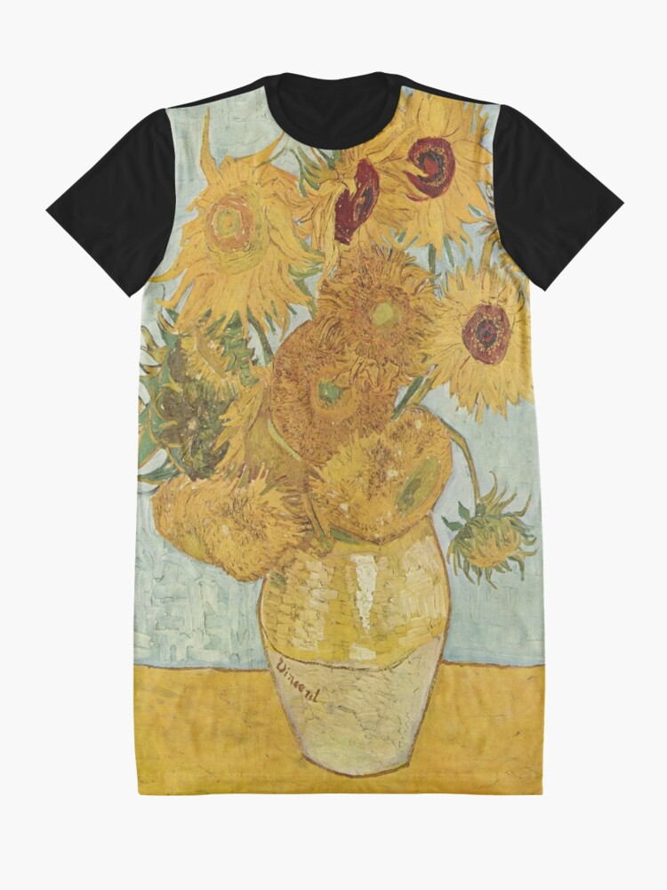 Alternate view of Vincent van Gogh's Sunflowers Graphic T-Shirt Dress
