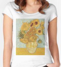 Camiseta entallada de cuello redondo Girasoles de Vincent van Gogh