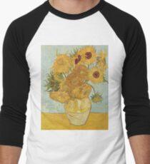 Vincent van Gogh's Sunflowers Men's Baseball ¾ T-Shirt