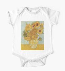 Vincent van Gogh's Sunflowers Short Sleeve Baby One-Piece