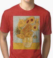 Vincent van Gogh's Sunflowers Tri-blend T-Shirt