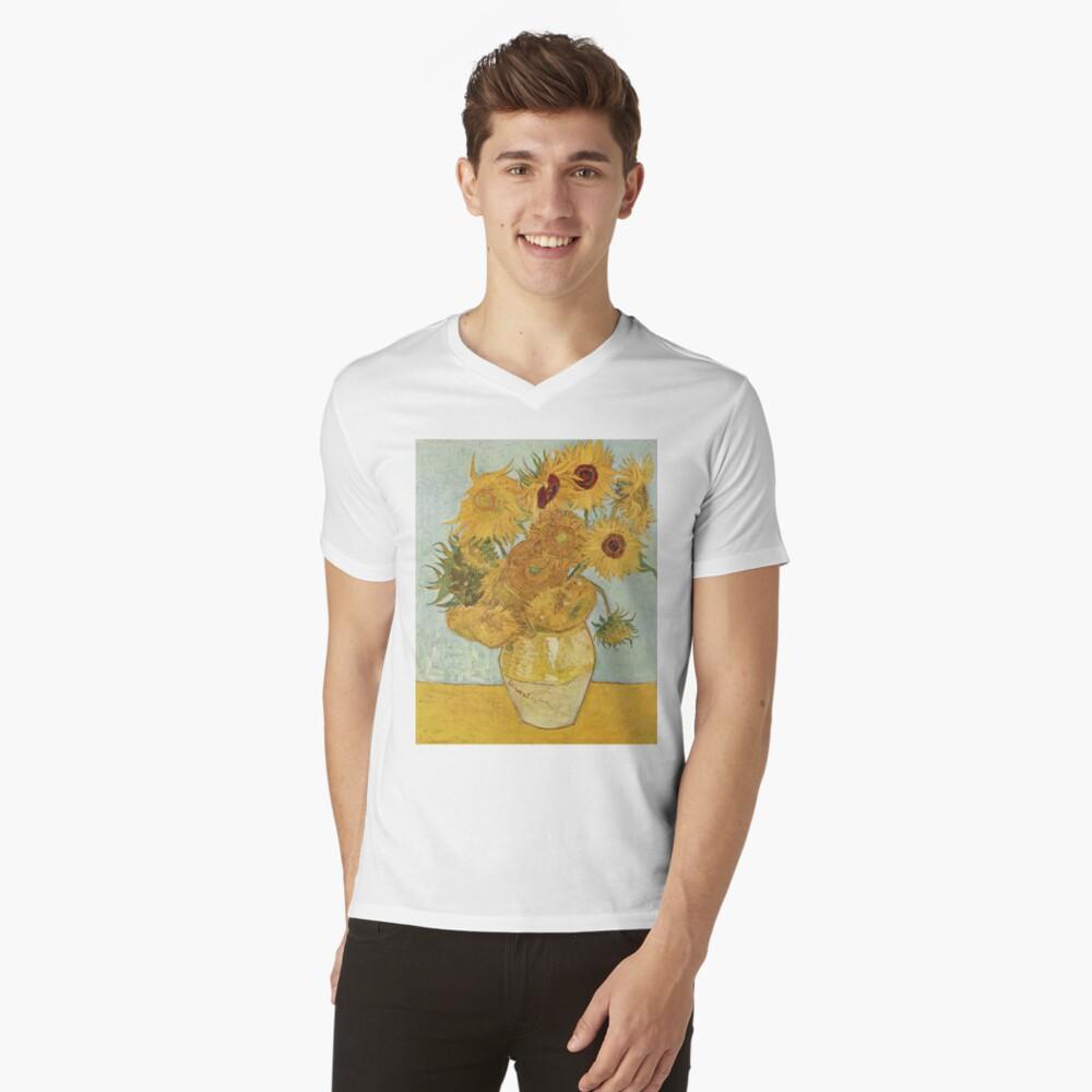 Vincent van Gogh's Sunflowers V-Neck T-Shirt