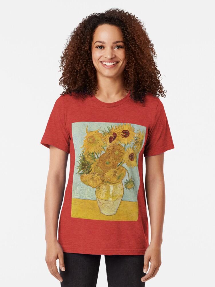 Alternative Ansicht von Vincent van Goghs Sonnenblumen Vintage T-Shirt
