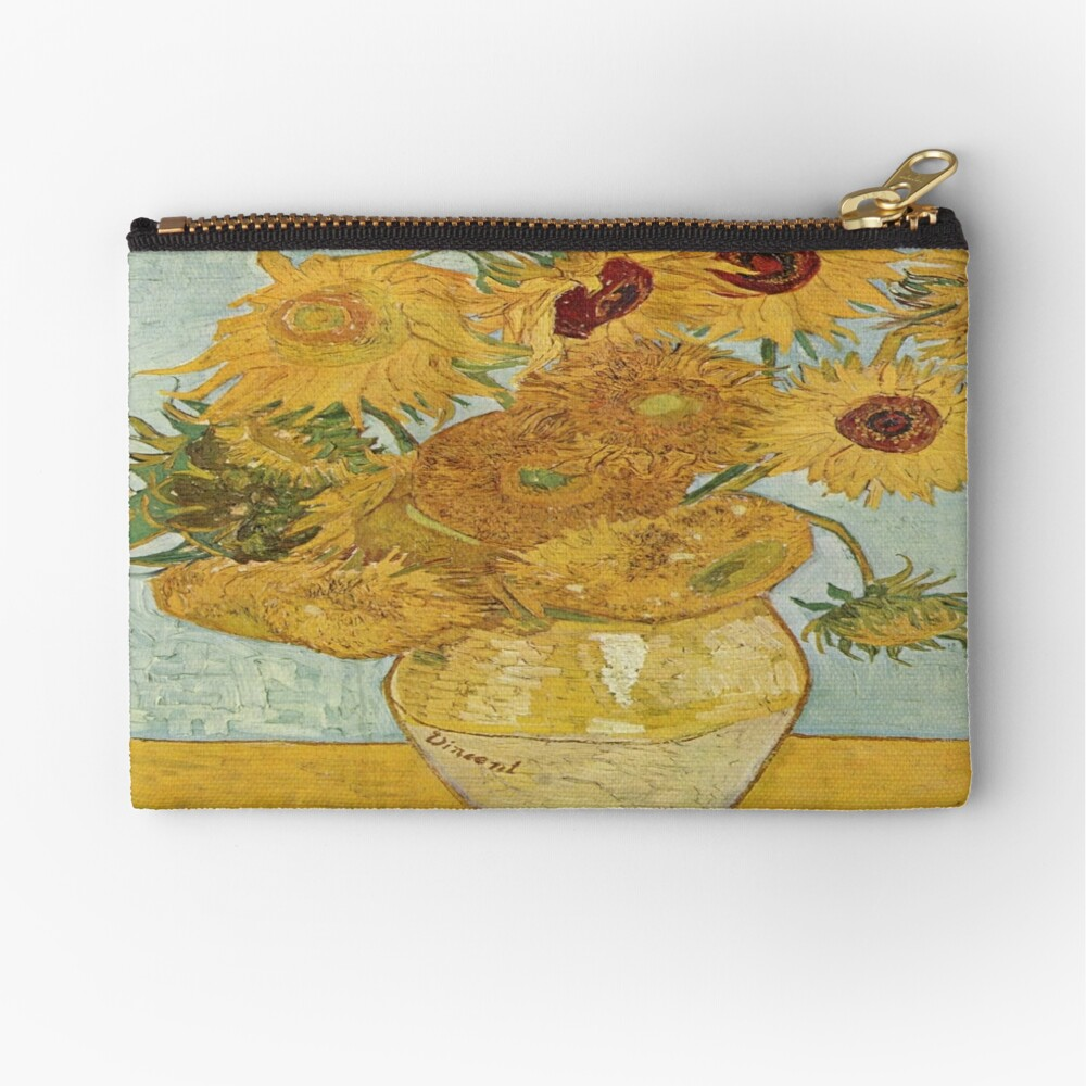 Vincent van Gogh's Sunflowers Zipper Pouch