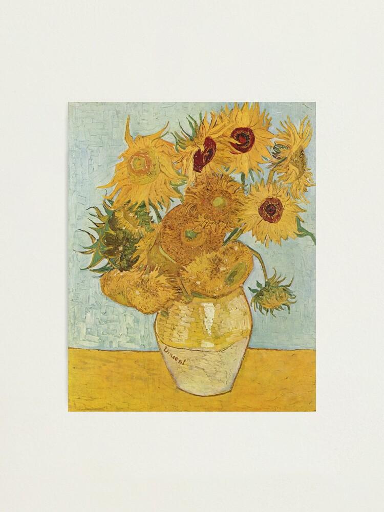 Alternate view of Vincent van Gogh's Sunflowers Photographic Print