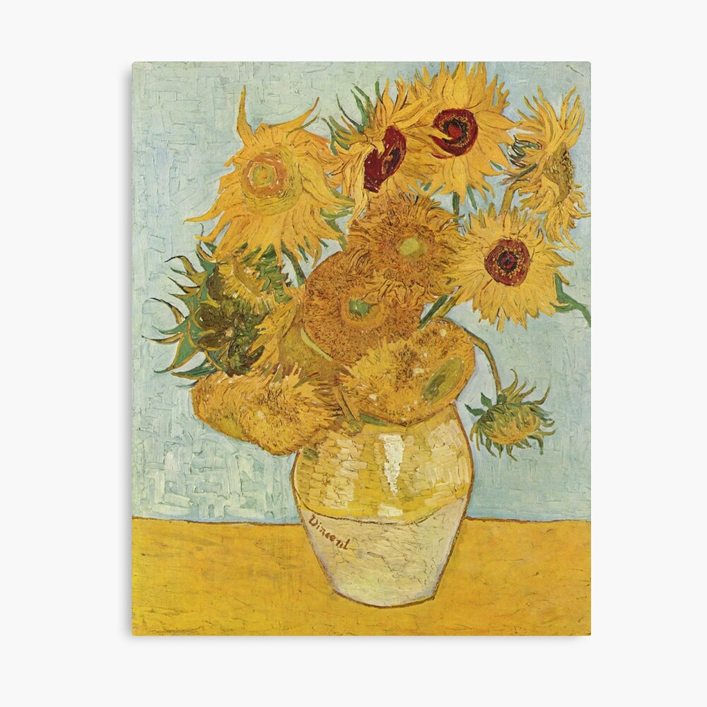 Vincent van Gogh's Sunflowers Canvas Print