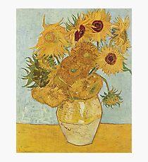 Lámina fotográfica Girasoles de Vincent van Gogh