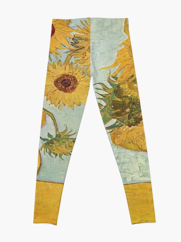 Alternate view of Vincent van Gogh's Sunflowers Leggings