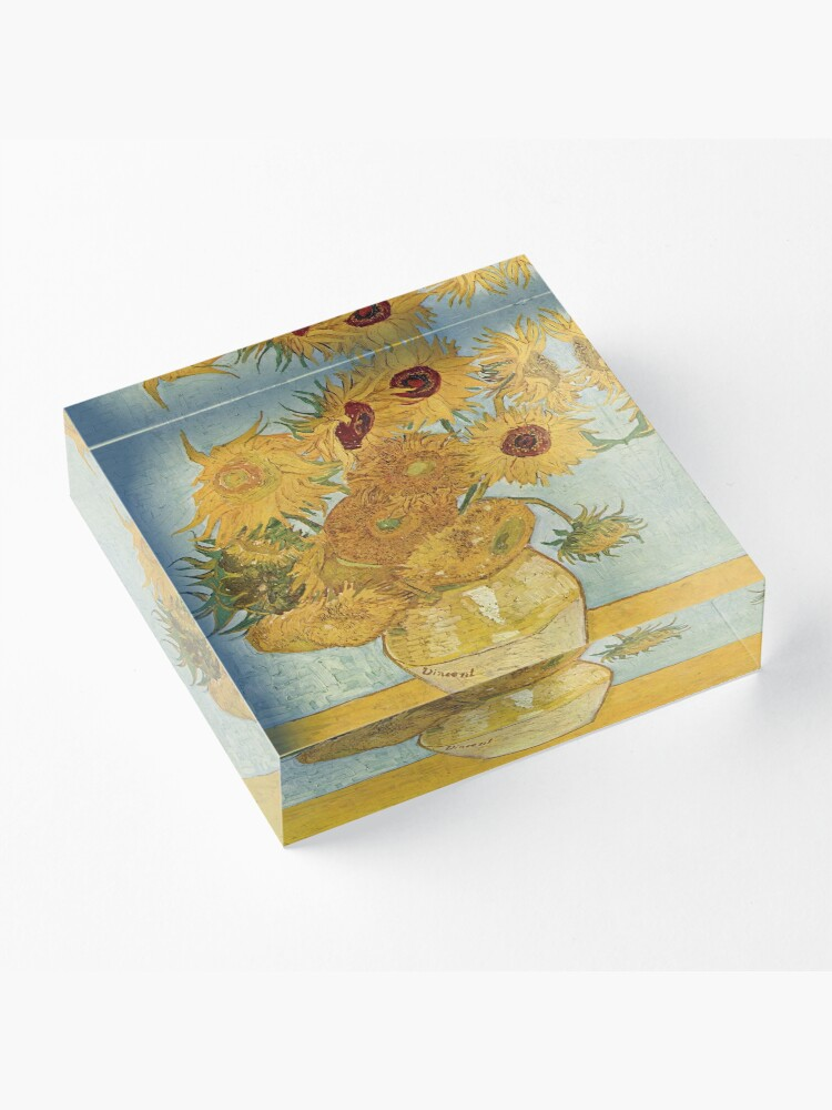 Alternate view of Vincent van Gogh's Sunflowers Acrylic Block