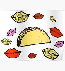 Lustiger Taco küsst South Park Poster