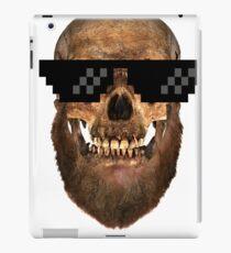 Geek Bearded Skull mens-tees iPad Case/Skin