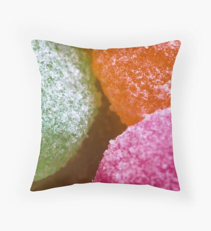 Sour Candy Throw Pillow