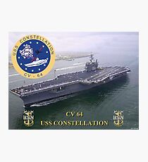 CV-64 USS Constellation Photographic Print