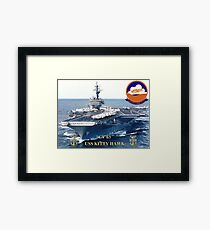 CV-63 USS Kitty Hawk  Framed Print