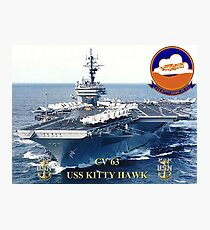 CV-63 USS Kitty Hawk  Photographic Print